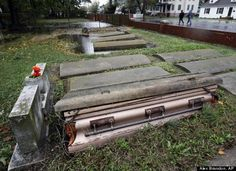 Caskets floated out of graves in maryland...