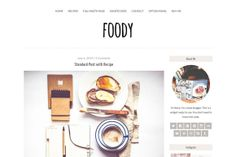 Foody - Responsive Wordpress theme by Pankogut Design on Creative Market