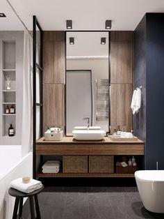 Ideas bathroom vanity design decor for 2019 Bathroom Mirror Design, Bathroom Vanity Storage, Modern Bathroom Design, Bathroom Interior Design, Master Bathroom, Bathroom Pink, Relaxing Bathroom, Shower Storage, Ikea Bathroom