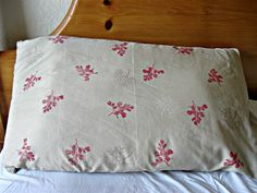 Show Tell Share: Stamped Pillowcase