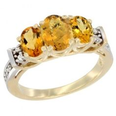 14K Yellow Gold Natural Whisky Quartz. This Ring is made of solid 14K Gold set with Natural Gemstones and accented with Genuine Brilliant Cut Diamonds.
