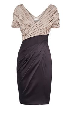 Classy beige and black dress: Bridesmaid Dresses