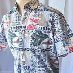 Reyn Spooner '98 Ltd Large Christmas Hawaiian Shirt | Mele Kalikimaka Santa Orchid