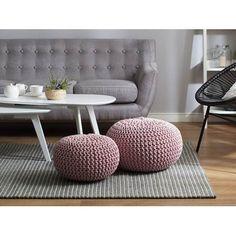 Pouf poggiapiedi in tessuto rosa 40 x 25 cm CONRAD Living Room Pouf, Living Room Modern, Living Room Furniture, Living Room Decor, Upholstered Furniture, Shabby Chic Furniture, Painted Furniture, Furniture Ideas, Pouf Rose