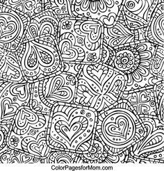 Hearts Abstract Doodle Zentangle ZenDoodle Paisley Coloring pages colouring adult detailed advanced printable Kleuren voor volwassenen coloriage pour adulte anti-stress kleurplaat voor volwassenen