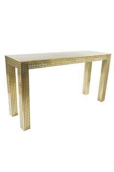Kelly Wearstler Perforated Table #brass
