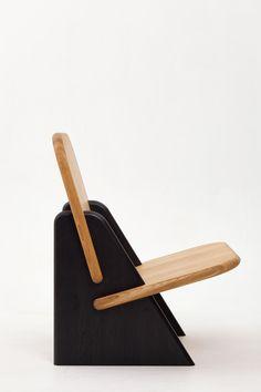 "Dolmena Black & Oak – Studio of Egor Bondarenko ""PolliProduct … – Woodworks Diy Furniture Table, Folding Furniture, Small Furniture, Diy Chair, Handmade Furniture, Furniture Design, Tea Table Design, Chair Design Wooden, Wood Design"