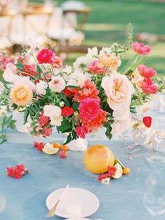 Holly Heider Chapple Flowers Photo by Katie Stoops Blush Wedding Centerpieces, Wedding Reception Flowers, Spring Wedding Flowers, Wedding Reception Decorations, Flower Bouquet Wedding, Floral Wedding, Summer Wedding, Whimsical Wedding, Wedding Tables