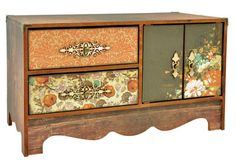Wooden storage buffet DIY kit - beyond the page project, scrapbooking, great for storage.