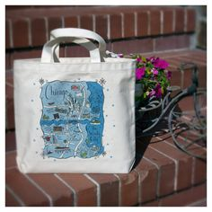 Chicago City Tote by GooseberryDesigns on Etsy