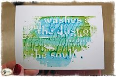 Today I want to share with you the technique I used to create the washed background using Distress Stains and Specialty Stamping Paper. I really love the look of it and think it works particularly…