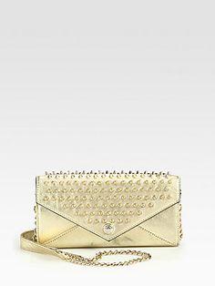 Rebecca Minkoff Studded Metallic Continental Wallet