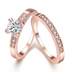 """Bookmark via099.8k0Put a dreamy spin on your sparkler with a ring in rose gold. """"Rose gold ring sales quadrupled in 2015. With celebs like Blake Lively and Leighton Meester sporting rose gold, I see no end in si..."""