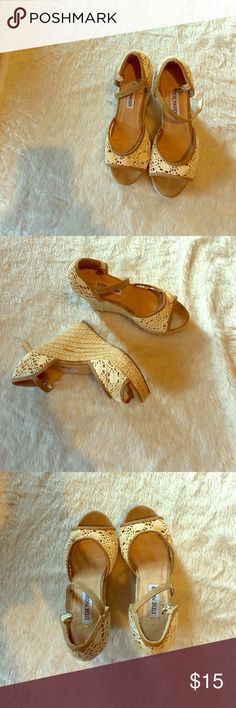 Steve Madden wedges Steve Madden wedge heels/ good condition priced to sell Steve Madden Shoes Wedges