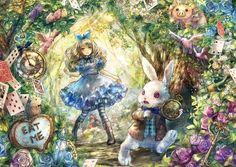 APO-41-724 おにねこ 不思議の国のアリス 白ウサギとアリス 108ピース
