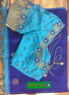Chandheri saree blouse with maggam work 7702919644
