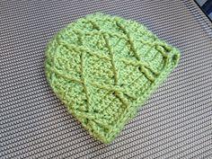 Ravelry: Diamond Trellis Toddler Hat pattern by Kendrea Beers