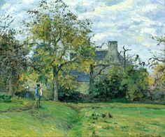 Camille Pissarro  1831 - 1903 La Maison De Piette À Montfoucault Pissarro Camille