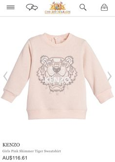 46f518cf972e Kenzo Kids Boys Pastel Blue Sweatshirt with Tiger Print Baby Baby Boys,  Long Sleeve, Crew Neck,   Chocolate - Luxury childrenswear for all  occasions!