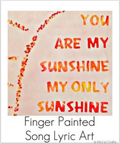 finger painted song lyric art
