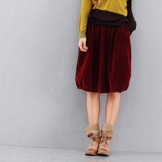 Elastic waist corduroy skirt 100% cotton bust skirt massifs medium skirt 2012-inSkirts from Apparel & Accessories on Aliexpress.com
