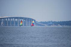 Biloxi/Ocean Springs Ms bridge and the beautiful sailboats