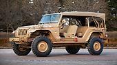 Eine Reminiszenz an die legendären Jeep-Militärfahrzeuge ist das Jeep Staff Car. Es basiert auf dem offenen Wrangler Unlimited. Das Fahrzeug wirkt klassisch, ist aber vollständig neu.