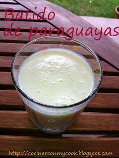 Cocinar con MyCook: BATIDO DE PARAGUAYAS,con receta.