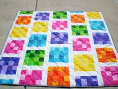 Tropical Baby Quilt