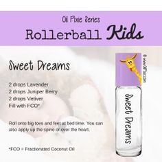 Sleep, Rollerball blends for kids, essential oils