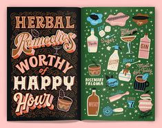 50+ Fun Lettering Artworks by Mary Kate McDevitt | Designbolts Cool Lettering, Types Of Lettering, Lettering Design, Hand Lettering, Hot Toddy, Some Fun, Spice Things Up, Herbalism, Cool Designs