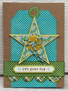 It's Your Day! Card with Star. Scrapbook.com