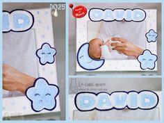 Marco para fotos recién nacido, personalizado con nombre. Hecho a mano. www.le-chat-noir.es/canastillas #canastilla #baby #babyshower #bebe #nacimiento #bautizo https://www.facebook.com/pages/Le-Chat-Noir-Hecho-a-mano/113710975370328