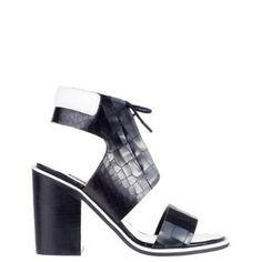Senso - Riley IV - Sandals (Ebony Crocodile & Nappa) - http://www.fashionshop.net.au/shop/shoes-the-iconic-shoes-sandals-heeled-sandals/senso-riley-iv-sandals-ebony-crocodile-nappa/ #HeeledSandals, #Sandals, #Shoes, #TheIconic #fashion #fashionshop