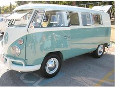 I've always wanted a VW van in this model, with these windows,  rims & paint scheme.  I wanted the bottom part baby pink instead of turquoise :)))