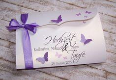 Einladung Hochzeit & Taufe flieder Bogenkarte gross