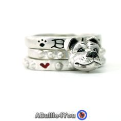 Staffordshire Bull Terrier Dog Stack Ring 925 by ABullie4You