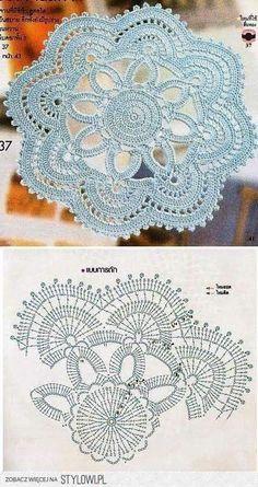 Watch The Video Splendid Crochet a Puff Flower Ideas. Wonderful Crochet a Puff Flower Ideas. Crochet Doily Diagram, Crochet Mandala Pattern, Crochet Circles, Crochet Flower Patterns, Crochet Chart, Thread Crochet, Crochet Designs, Crochet Flowers, Crochet Stitches