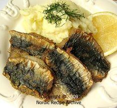 Fried Baltic herring fillets
