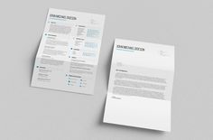 Free resume and cover letter template bundle. Creative but still quite simple and minimalistic resume with professional look.
