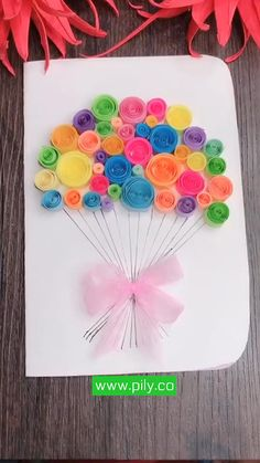 Paper Flowers Craft, Diy Crafts For Gifts, Paper Crafts For Kids, Diy Arts And Crafts, Preschool Crafts, Diy Gifts For Mom, Aunt Gifts, Paper Quilling Designs, Quilling Paper Craft