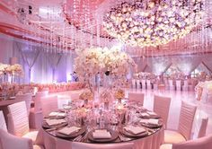 Pretty Without The Ball Of Flowers On Ceiling Wedding Ballroom Decor Glitz