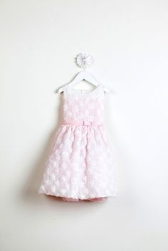 4367a757676 Girls Dress Style 488- Floral Swirl Embroidered Silk Dress Pink Flower Girl  Dresses