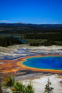 Primsatic Spring, Yellowstone. It truly is an amazing place!!