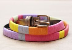 DIY J.Crew Inspired Thread-Wrapped Belt | Why Don't You Make Me