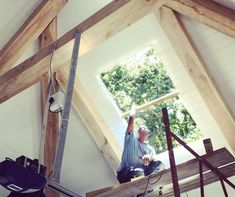IsoBoard's highly effective thermal insulation qualities are equalled only by our versatility in new construction and renovations to the building envelope. Timber Beams, Thermal Insulation, House Goals, Building Materials, Skylight, New Construction, Home Renovation, Modern Farmhouse, Sweet Home