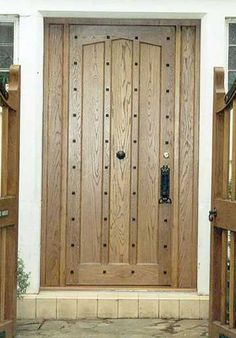 American white oak door
