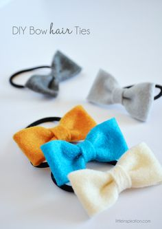 DIY Bow Hair Ties » LittleInspiration.com