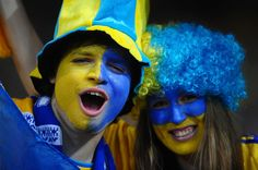 Football fans soak up the atmopshere ahead of the UEFA EURO 2012 group D match between Ukraine and Sweden
