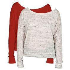 f18ad3cc3 Bella + Canvas Women's Flowy Long Sleeve Off Shoulder T-shirt - White